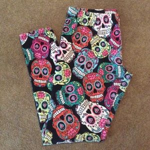 Bright Colored Skull Leggings